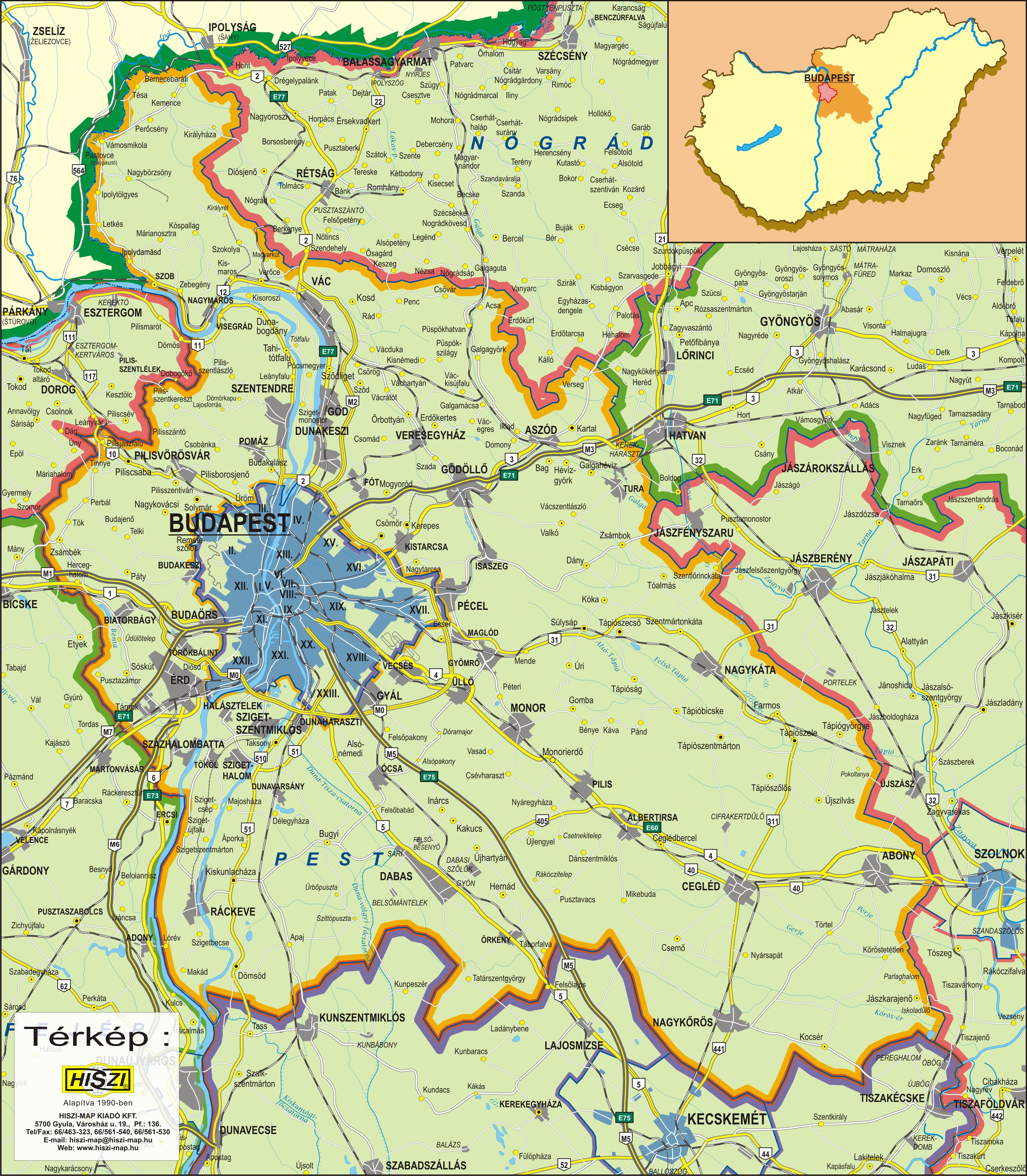 budapest és pest megye térkép Online térképek: Pest megye térkép budapest és pest megye térkép